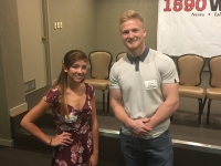 Samantha Wolf and Clayton Langdon, our 2017 Student Athlete Scholarship Winners