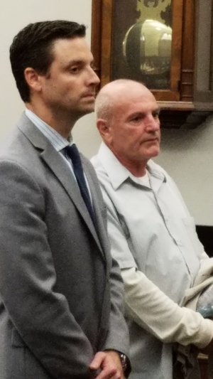 Donald Callaghan (right) in court, October 26, 2016