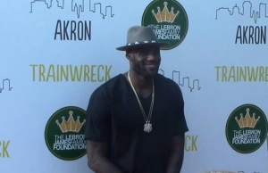 "LeBron James at ""Trainwreck"" movie premiere"
