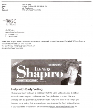 UPDATE Roemer Rips VSC Political E-mail, Shapiro Responds