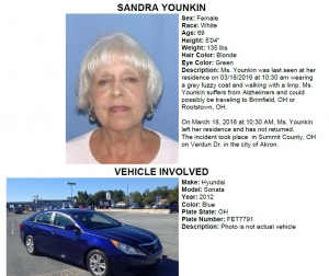 Sandra Younkin Missing Poster