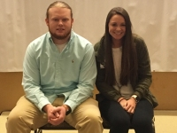 Tyler Dawson (left) and Lexi Shultz (right) our 2018 Male  & Female Student Athletes of the Year