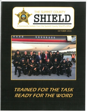 The cover of this month's Summit County Sheriff's Office newsletter