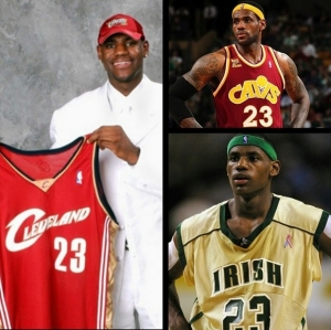 LeBron James through the years