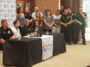 Sgt. David White Press Conference Summa Akron City Hospital