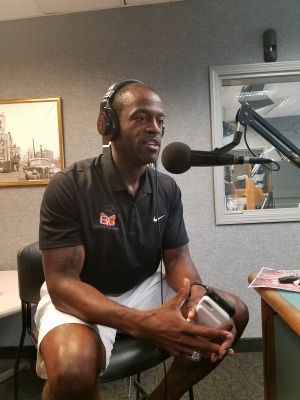 Devin Jordan, former Buckeye and Massillon Tiger in the WAKR Studios