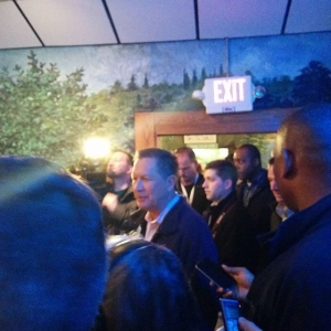 Kasich Joins Supporters at Luigi's Restaurant