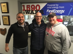 University of Akron head basketball coach John Groce (center) with Sam and Brad