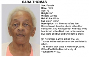 Missing Adult Alert Youngstown