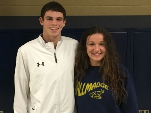 Nick Hussing (left) and Andreana Gotto of Tallmadge HS
