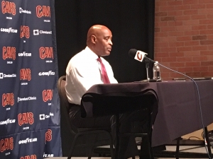 Larry Drew discussing the win over the Toronto Raptors