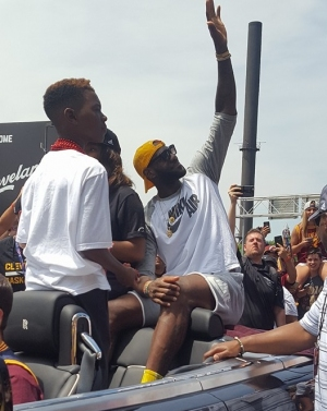 LeBron James at the 2016 Championship Parade