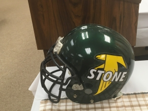 Firestone Falcons helmet during City Series Media Day