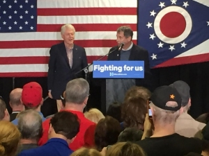 President Bill Clinton Speaks to Akronites, Campaigns for Hillary