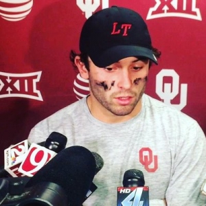 Baker Mayfield, while at Oklahoma