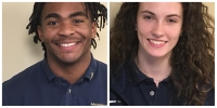 Tyris Dickerson and Megan Hutson Student Athletes of the Week Archbishop Hoban