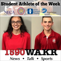 Student Athletes of the Week Emma Sandefur and Caleb Eckenrode