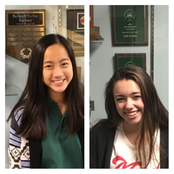Student Athletes of the Week Rowan Lilly and Bella Vesco: Our Lady of the Elms