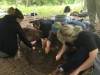 Students Dig Up Pig Remains