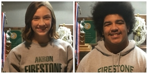 Madeline Dyer and Logan Johnson Student Athletes of the Week