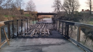 UPDATE Towpath Bridge Destroyed By Fire