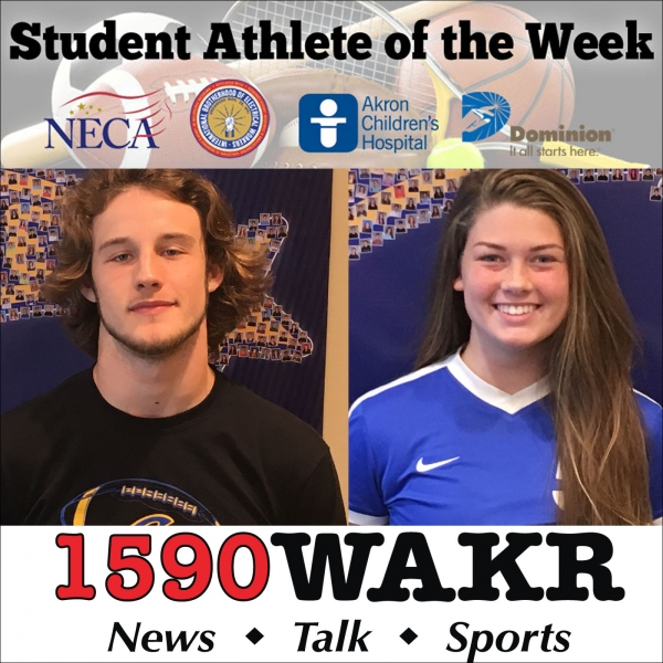 Student Athletes of the Week Brooke Sells and Caleb Shank